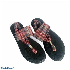 Sanuk Yoga Sandal Stripe Muted Colors Size 8